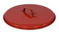 Justrite Rojo Acero Cubierta para lata de seguridad - 697841-00475