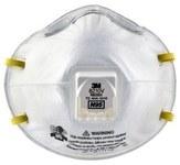 3M 8210V Blanco Estándar Plisado Respirador de partículas - 051131-49711