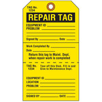 Brady 103666 Negro sobre amarillo Cartulina Etiqueta de mantenimiento - Ancho 4 in - Altura 7 in - 19356