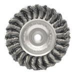 Weiler Acero Cepillo de rueda - Accesorio Eje - Agujero Central 1/2 a 3/8 pulgada - Diámetro de la cerda 0.02 pulg. - 08064