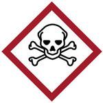 Brady 121199 Blanco/negro/rojo Diamante Poliéster Etiqueta de área peligrosa - Altura 4 in - B-7541