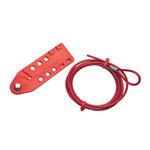 Brady Rojo Polipropileno reforzado con fibra de vidrio Dispositivo de bloqueo de cable 45351 - Longitud 6 pies - 754476-45351