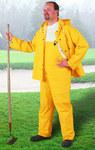 Dunlop Sitex 76515 Amarillo Grande Poliéster/PVC Traje de lluvia - 2 Bolsillos - Para tamaño del pecho 54 pulg. - Entrepierna 30 pulg. - 791079-12452
