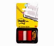 3M Post-it 680-1 Rojo Banderas de notas - longitud total 1.7 in - Ancho 1 in - Hojas 50 - 66520
