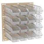 Akro-mils Ready Space 150 lb Piedra Blanco Acero Doble cara Bastidor de piso con persiana - longitud total 24 5/8 pulg. - Ancho 23 pulg. - Altura 52 pulg. - 64 gavetas 305B1 - 30553B1