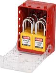 Brady Ultracompacto Rojo Kit de caja de bloqueo - Ancho 4 pulg. - Altura 5.7 pulg. - Capacidad de Candado 12, 6 almacenados - 754473-58892