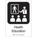 Brady B-401 Poliesterino de alto impacto Rectángulo Cartel de educación en salud Blanco - 7 in Ancho x 10 in Altura - 142489