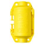 Brady Hubbell Plugout Amarillo Polipropileno Bloqueo de enchufe eléctrico 65695 - Ancho 2 3/4 pulg. - Altura 4 3/4 pulg. - 754476-65695