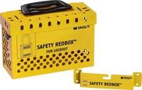 Brady Safety Redbox Rojo Acero Caja de bloqueo grupal 145580 - Capacidad de Candado 20 - 754473-54397