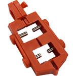 Brady Rojo Nailon Dispositivo de bloqueo de disyuntor 65387 - Ancho 0.83 pulg. - Altura 2.15 pulg. - 754476-65387