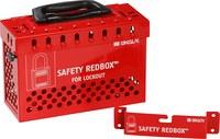 Brady Safety Redbox Rojo Acero Caja de bloqueo grupal 145579 - Capacidad de Candado 20 - 754473-54396