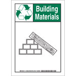 Brady B-555 Aluminio Rectángulo Letrero de reciclaje Blanco - 7 pulg. Ancho x 10 pulg. Altura - 129363