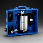 3M 256-02-00 Azul Panel de filtración de aire PAPR y SAR - 50 cfm Flujo de Aire Máx - Portátil - Portátil - 051138-66307