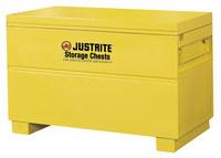 Justrite Safesite Amarillo Gabinete de almacenamiento de material peligroso - Posición del piso - Ancho 48 in - Altura 31 1/8 in - Posición del piso - 697841-09113