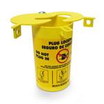 Brady Prinzing Amarillo Elastómero termoplástico Bloqueo de enchufe eléctrico PLO23 - Ancho 3.47 pulg. - Altura 6.25 pulg. - 754476-45842
