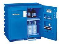 Justrite 1 L Azul Gabinete de almacenamiento de material peligroso - Cierre manual - Bajo la encimera - Ancho 36 in - Altura 35 in - Bajo la encimera - 697841-04008