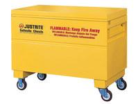 Justrite Safesite Amarillo Gabinete de almacenamiento de material peligroso - Posición del piso - Ancho 48 in - Altura 31 1/8 in - Posición del piso - 697841-09115