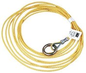 DBI-SALA Amarillo Polipropileno Cable de cola - Ancho 3/16 pulg. - Longitud 25 pies - 840779-08101