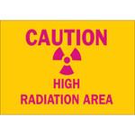 Brady B-302 Poliéster Rectángulo Cartel de peligro de radiación Amarillo - 10 pulg. Ancho x 7 pulg. Altura - Laminado - 88731