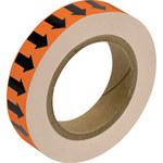 Brady 109940 Negro sobre naranja Cinta de unión de tuberías - Ancho 1 pulg. - Longitud 30 yd - B-302