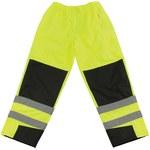 PIP 318 Negro/Lima de alta visibilidad Mediano Poliuretano en poliéster Pantalones de alta visibilidad - 5 Bolsillos - 616314-13285