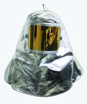 Chicago Protective Apparel Dorado (Película) Lexan Pararamida aluminizada Capucha resistente al calor y al fuego - Con ventana - Material 19 oz - Ancho 7 in - Altura 11 in - 0647-AKV
