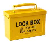Brady Amarillo Caja de bloqueo grupal 65672 - Ancho 88 mm - Altura 150 mm - 754473-65672