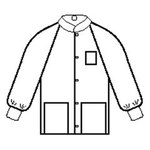 Kimberly-Clark Blanco Grande SMS Chaqueta de trabajo - 3 Bolsillos - 036000-10072
