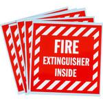 Brady SV088E Vinyl Fire Extinguisher Label - 47175