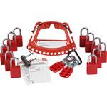 Brady 148867 Rojo Cerradura de seguridad y portador de la etiqueta - LOTO-88