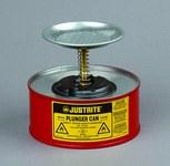 Justrite Rojo Acero 1 qt Lata de seguridad - Altura 5 5/8 in - Diámetro total 7 1/4 in - 10108