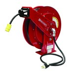 Reelcraft Industries Serie L 70000 75 pies Rojo Acero Carrete de cable - longitud total 19.75 pulg. - Ancho 8.25 pulg. - Altura 20.25 pulg. - 01809