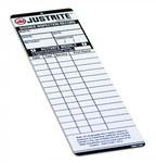 Justrite Blanco Plástico Etiqueta de inspección - Ancho 2 pulg. - Altura 6 1/2 pulg. - 19200