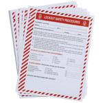 Brady Formulario de procedimiento de entrenamiento de bloqueo/etiquetado - Título de capacitación = Procedimientos de bloqueo - 754476-45634