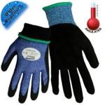 Global Glove Samurai Glove CR317inT Azul/Negro Grande HPPE Guantes para condiciones frías - Insulación Felpa - CR317INT LG
