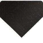 Wearwell 702 Negro (bordes amarillos) Vinilo Tapete de trabajo no conductivo - Ancho 3 ft - Longitud 75 ft - 715411-00062