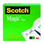 3M Scotch 810 Magic Cinta de oficina Transparente - 3/4 pulg. Ancho x 1296 pulg. Longitud - 07378