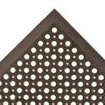 Notrax Sanitop 562 Negro Caucho Tapete de piso antifatiga y ergonómico - Ancho 3 ft - Longitud 10 ft - 562 3 X 10 BLK