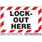 Brady 86245 Negro/Rojo sobre blanco Rectángulo Poliéster Etiqueta de bloqueo/etiquetado - Altura 3 1/2 pulg. - B-302