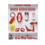 Brady Rojo/blanco Poliestireno Estación de dispositivo de bloqueo - Ancho 25 pulg. - Altura 30 pulg. - 754476-99692