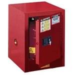 Justrite Sure-Grip EX 4 gal Rojo Gabinete de almacenamiento de material peligroso - Cierre automático - Parte superior del banco - Ancho 17 pulg. - Altura 22 pulg. - Parte superior del banco - 697841-