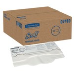 Scott Fibra 3000 Cubireta de papel para inodoro - longitud total 18 pulg. - Ancho 15 pulg. - 07410