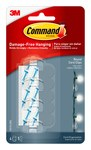 3M Command Plástico Presilla de cuerda Transparente - 34696