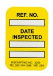 Brady Microetiqueta MIC-MTIUSA Y Amarillo Vinilo Microinserto de etiqueta - Altura 1 7/8 pulg. - 14310