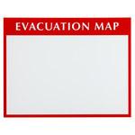 Brady Plástico Soporte de mapa de evacuación Rojo/transparente/blanco - 13.5 in Longitud x 17.5 in Ancho x 3.5 in Altura - 102849