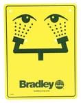 Bradley Spintec Señalamiento para estacion de lava ojos - 114-051