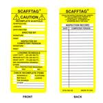 Brady Scafftag SCAF-STSI594 Amarillo Poliéster Inserción de etiqueta de andamio - Altura 7 5/8 pulg. - 14260