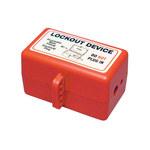 Brady Prinzing Rojo Poliestireno Dispositivo de bloqueo neumático 45847 - Ancho 4.62 in - Altura 3.78 in - Capacidad de Candado 4 - 754476-45847