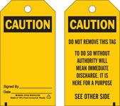 Brady 65348 Negro sobre amarillo Poliéster Etiqueta de seguridad del equipo - Ancho 3 pulg. - Altura 5 3/4 pulg. - B-851
