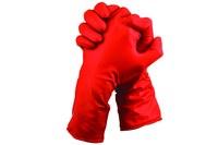 The Glove CoMPany Chloronite® Chemical Gloves Rojo de alta vis. Grande Policlorofreno/nitrilo Apoyado Guante - Longitud 12 pulg. - 348098-00136